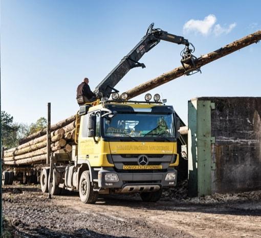 Holztransport, Holzkran